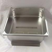 "2/3 Size X 4"" Deep Stainless Steel Evap Pan"