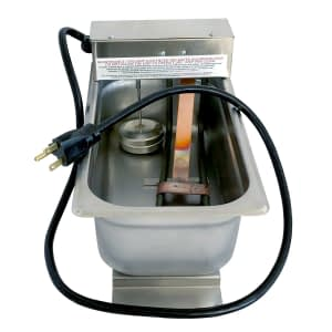 """800W/120V 1/3 Size X 4"""" Deep Condensate Evaporation Pan with 120V molded cord"""
